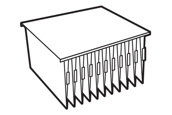 Extra systeemlegbord Sistec TS4 voor hangmappen