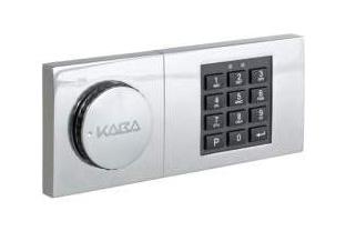 Elektronisch slot + noodsleutel (in plaats van standaard)