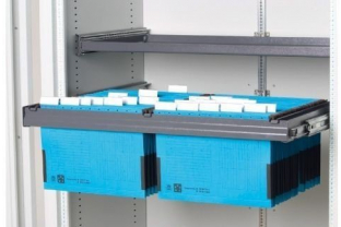 Salvus uittrekbaar hangmappenframe HS2, universeel, spoorbreedte 330mm, RAL 7015 | KluisShop.be
