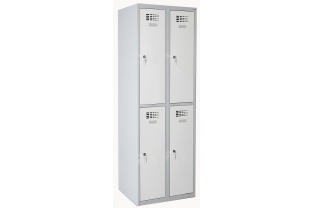 Lockerkast DRL L-322W - 2 koloms, 4 lockers | KluisShop.be