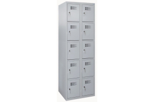 Lockerkast DRL L-325W - 2 koloms, 10 lockers | KluisShop.be
