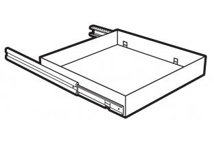 Lips Brandkasten uittrekbaar legbord size 450  | KluisShop