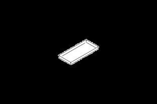 Opvang legbord voor Asecos veiligheidskast type 120 schets